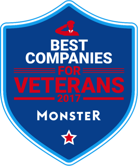 Monster Best Companies for Veterans 2017 Logo