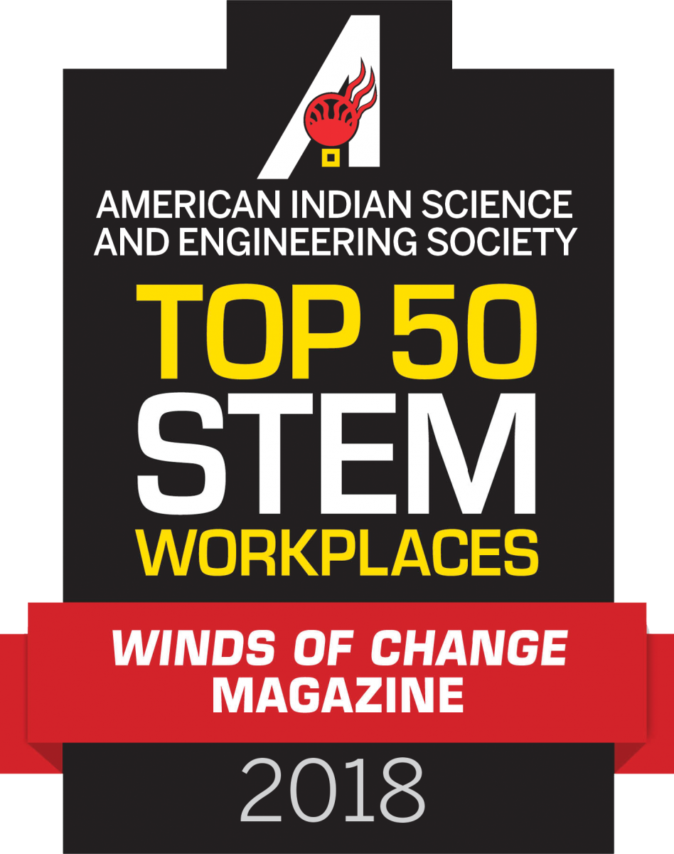 Top 50 STEM Workplaces Winds of Change Magazine Logo