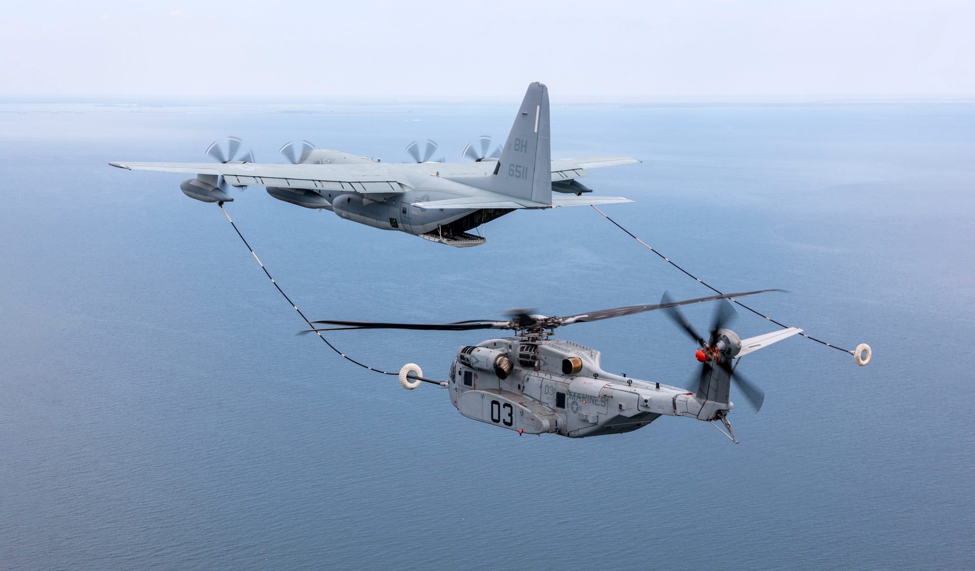 CH-35K helicopter air-to-air refueling (AAR)